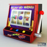 3d gaming machine model