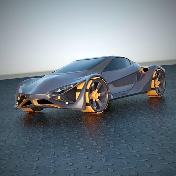futuristic car vehicle 3d 3ds