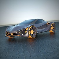 futuristic car vehicle 3d 3ds