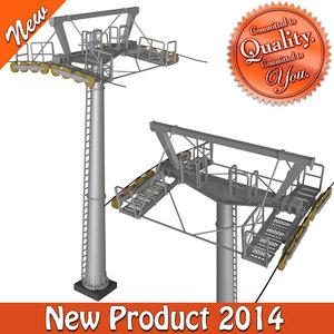 3d cableway pillar