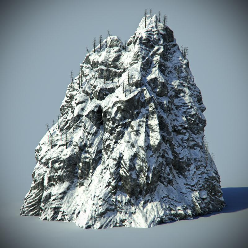 3d model snow rock