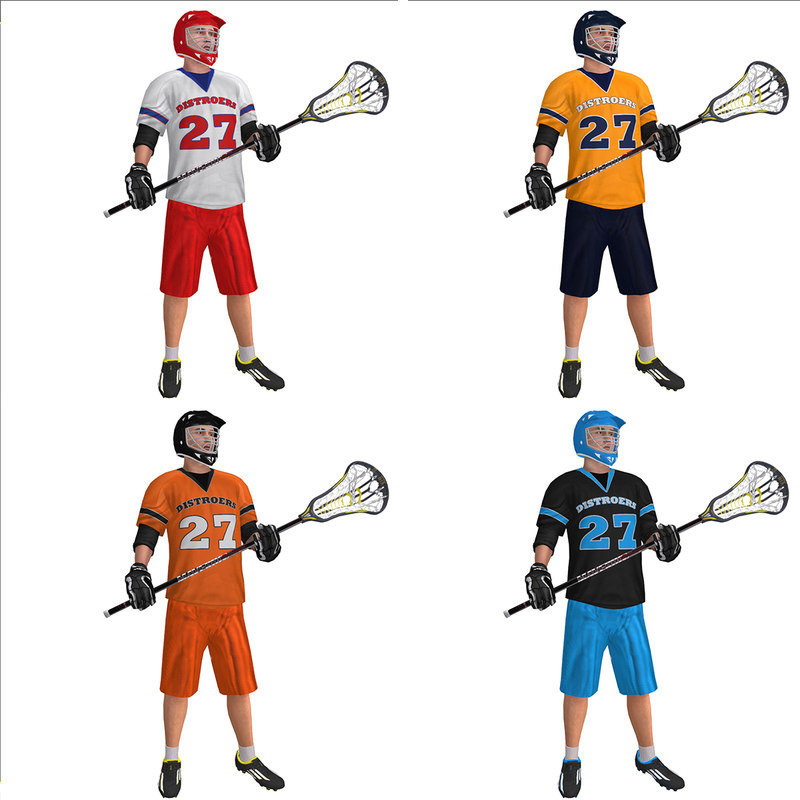 max rigged lacrosse player