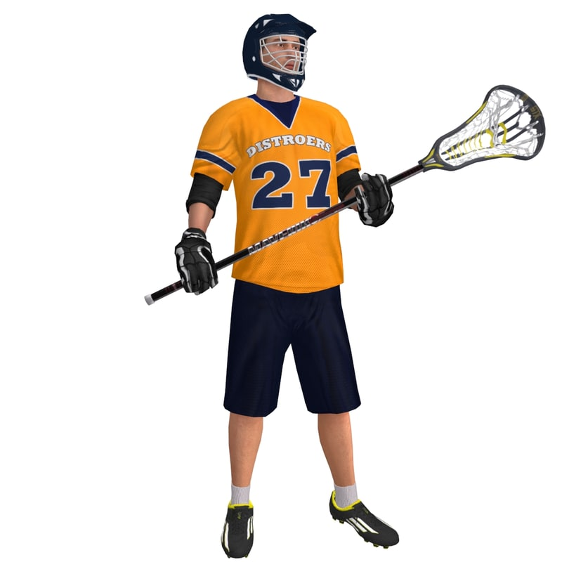 3d rigged lacrosse player