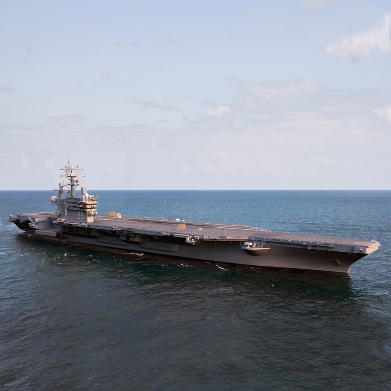 cvn 69 aircraft carrier 3d max