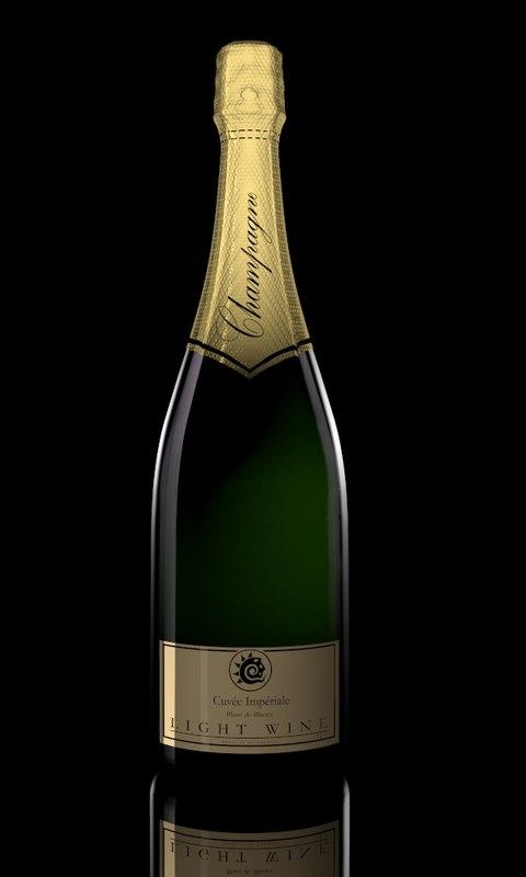 champagne bottle 3d model