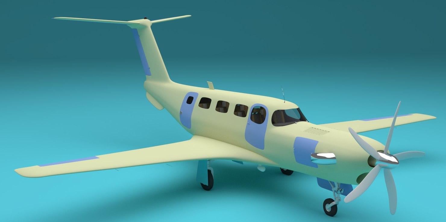 propeller plane 3d obj