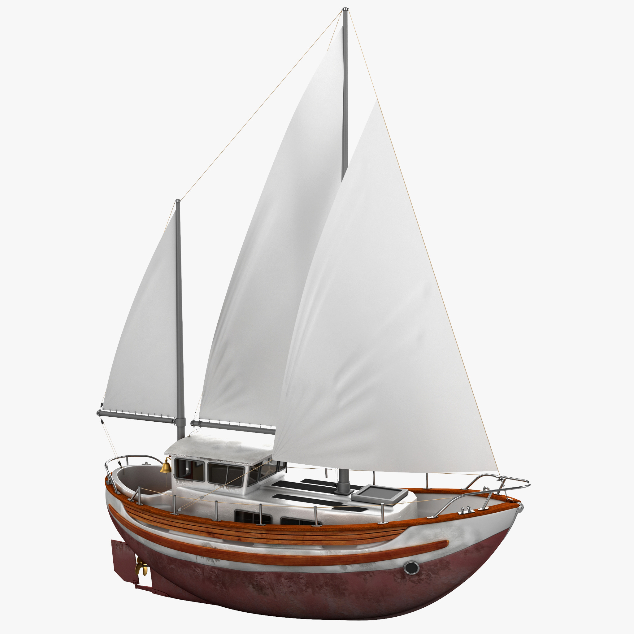 3d sailboat fisher 30 model