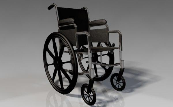 wheelchair chair 3d model