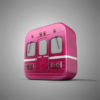 train icon 3d 3ds