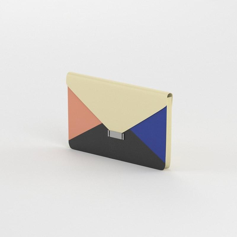 3d model celine clutch bag