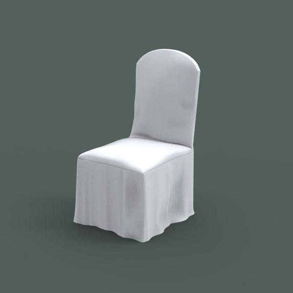 3d banquet chair model