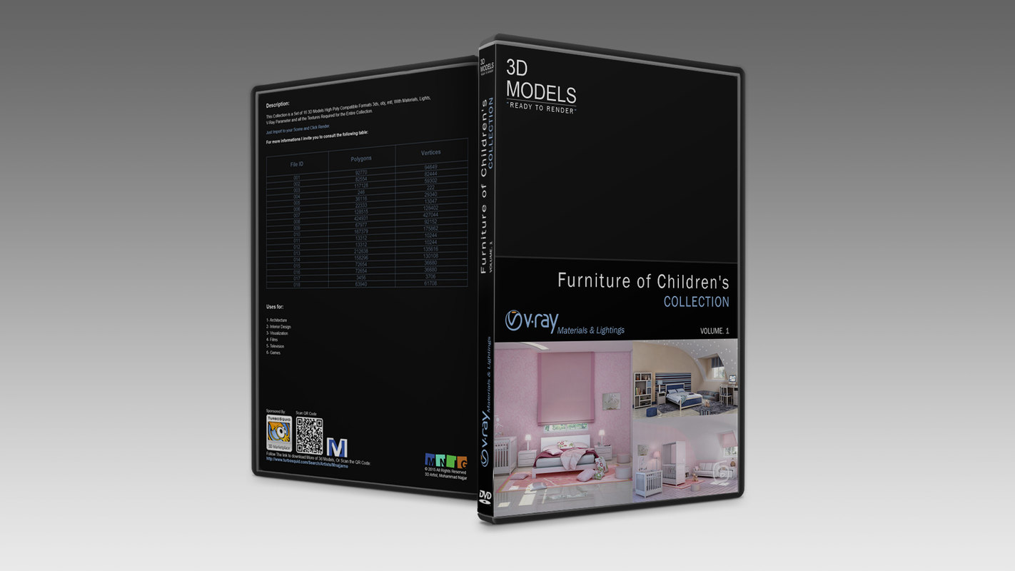 3d children s furniture model