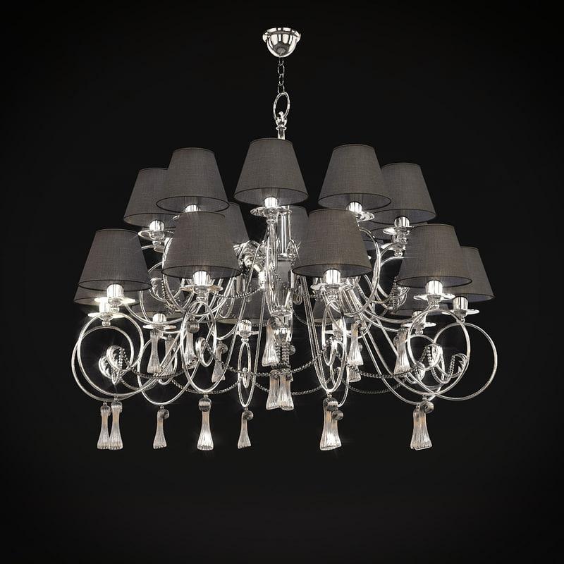 baga chandelier art 1182 3d model