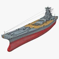 3d japanese battleship yamato model