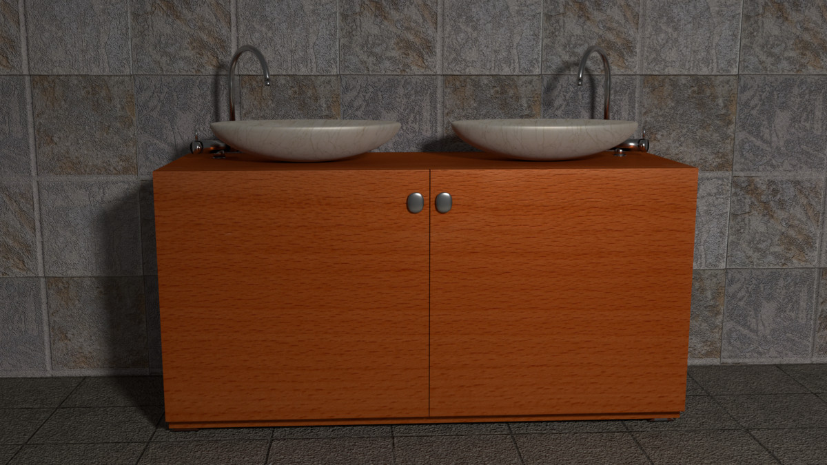 free obj model sink cabinet