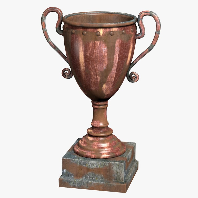3d model rusty trophy