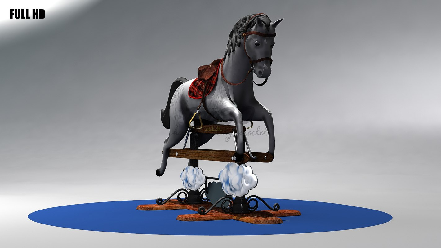 3d model of little horse