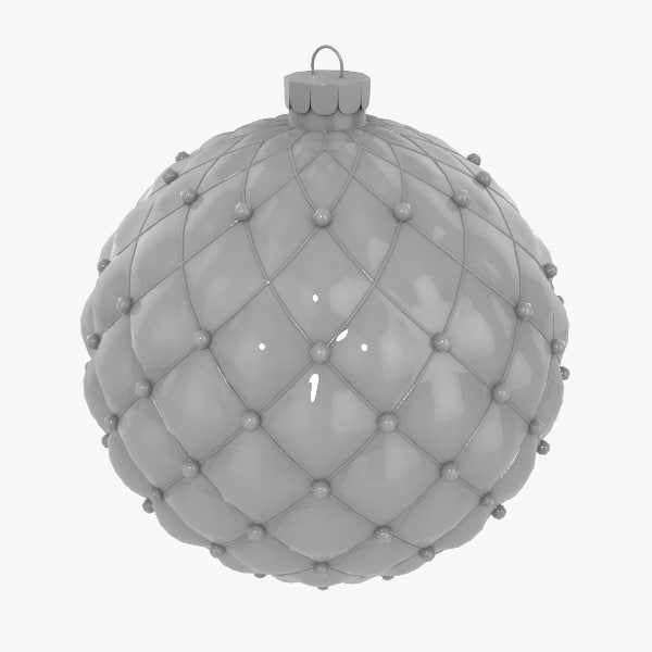 3d model christmas decorations ball v04