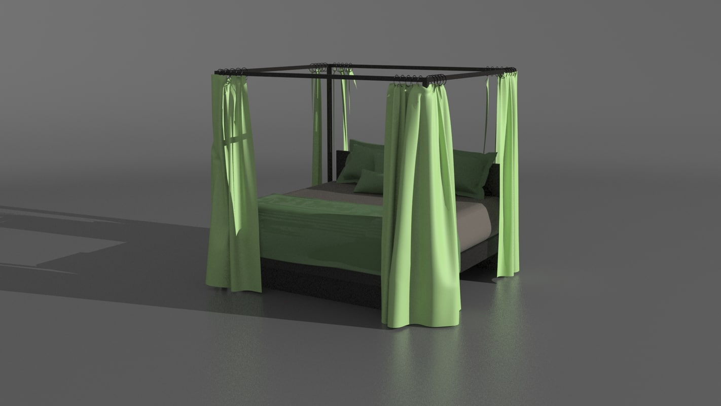 poster bed drapes 3ds