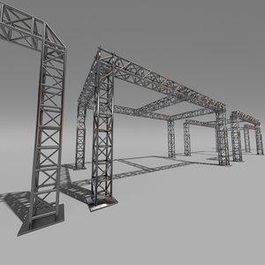 truss metal 3d model