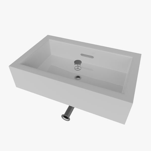 3d wash basin lid model