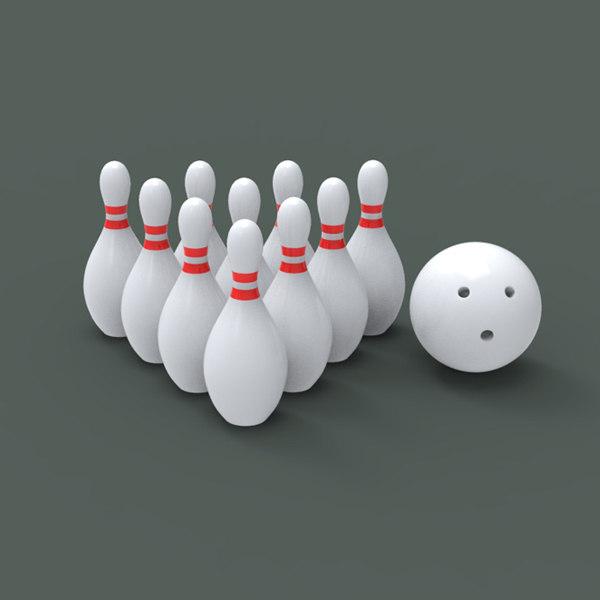3d bowling ball