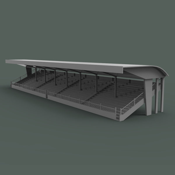 3d model of bleachers