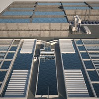 3ds max sewage water treatment