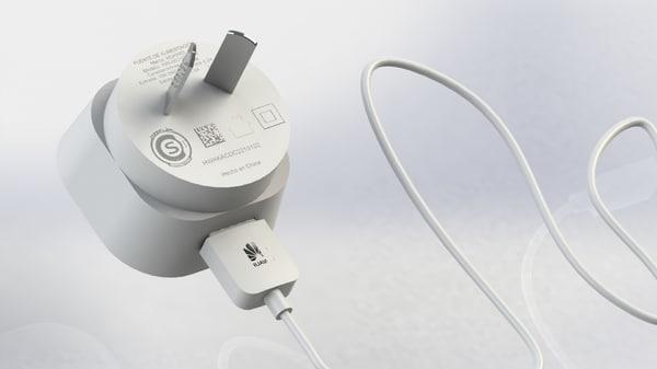 free cargador huawei ascend p6 3d model