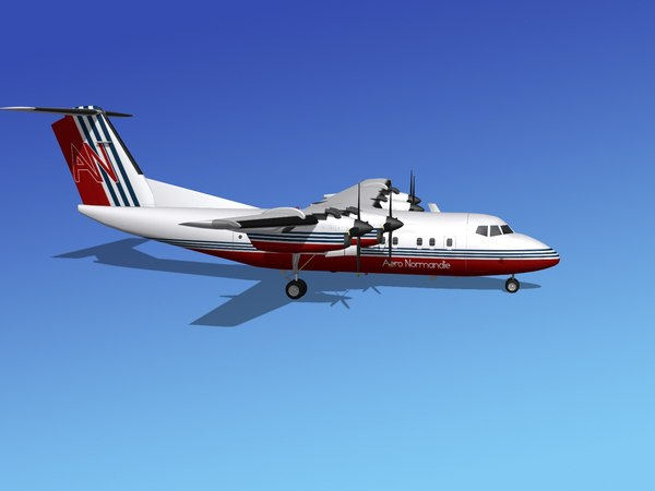 dhc-7-200 passenger freight 3ds