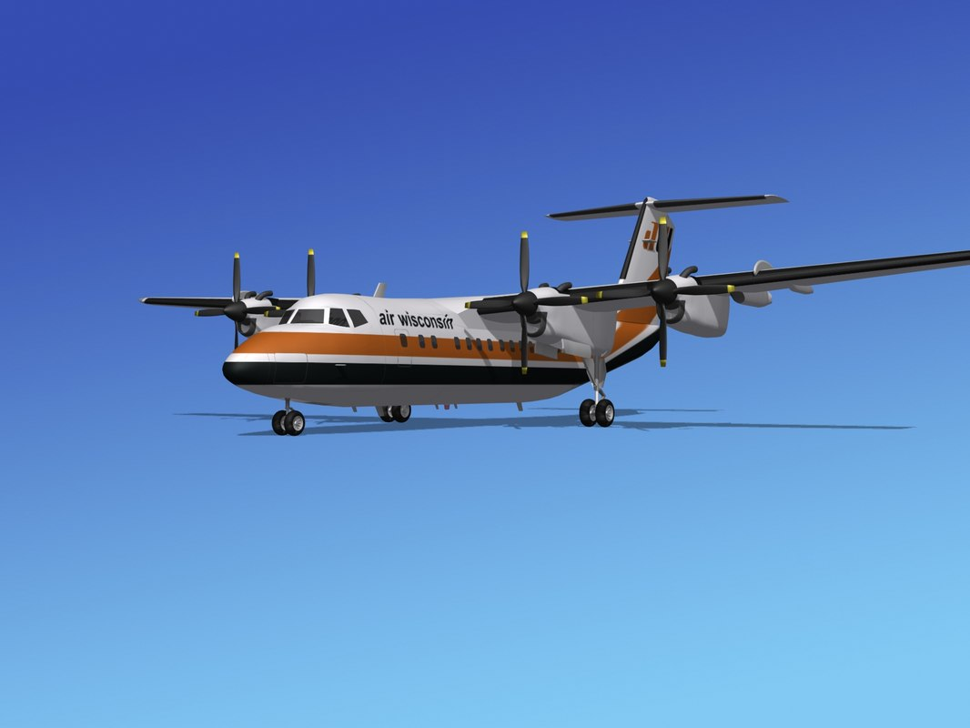 dhc-7-200 air 3d model