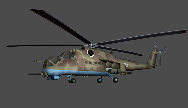 free mi-24 helicopter 3d model