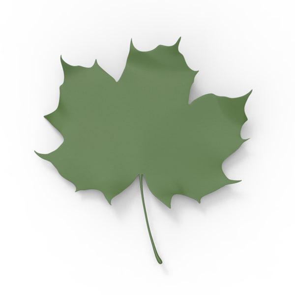 3d fall leaf