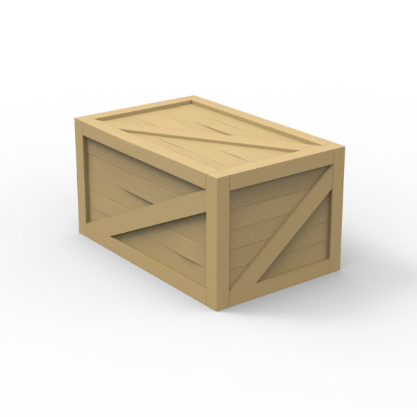 wood crate 3d max