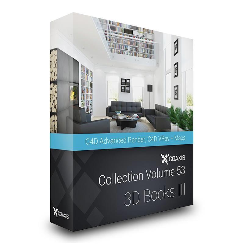 books volume 53 iii 3d c4d