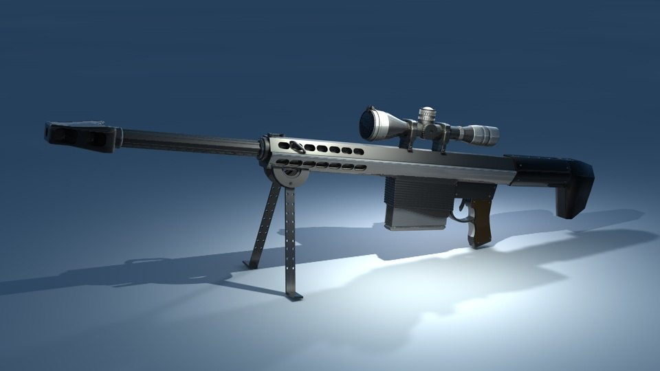cinema4d sniper rifle