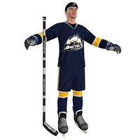 3d model of hockey player