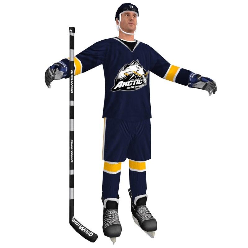hockey player 3d model