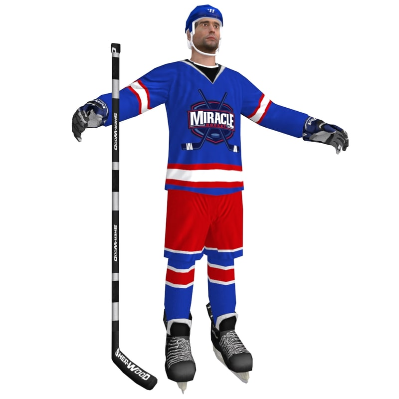 3d model of hockey player