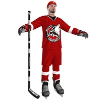3d hockey player 3 model