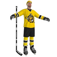 3d max hockey player