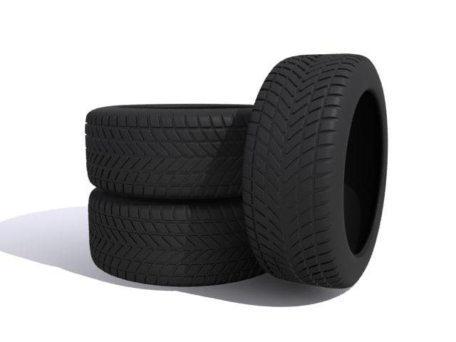 3d model of car tires