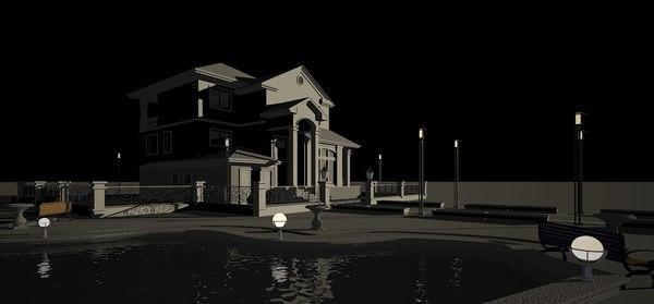 3d mansion house