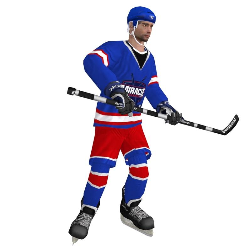 rigged hockey player max