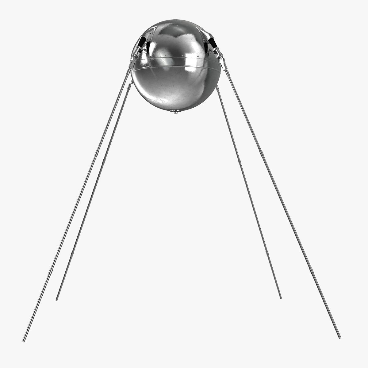 3d model sputnik 1