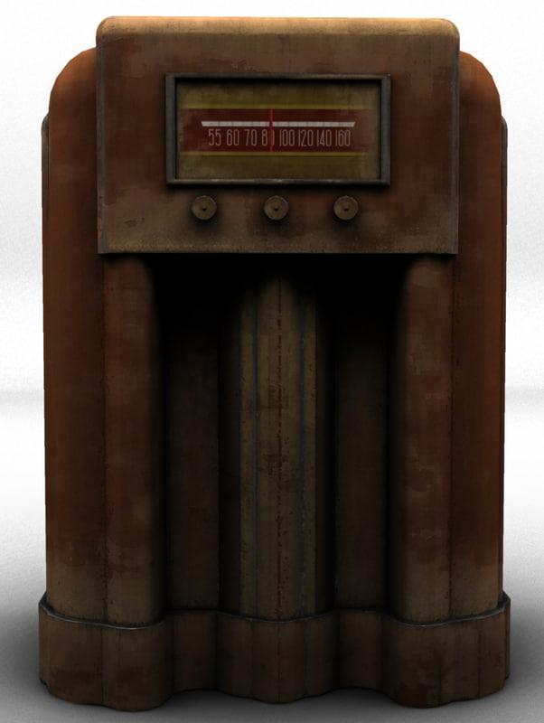 3d model of old radio