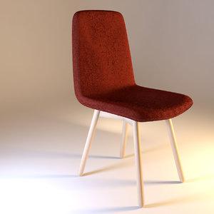 chair stuhl 01 3d model