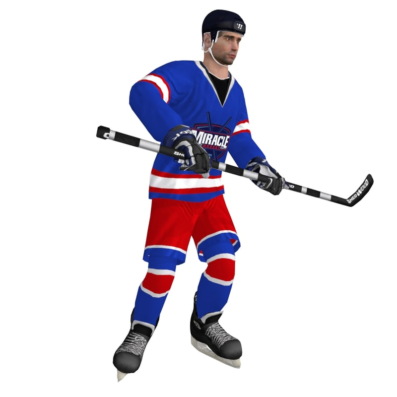 3d rigged hockey player
