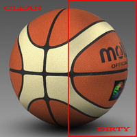 basket ball bicolor 3d 3ds