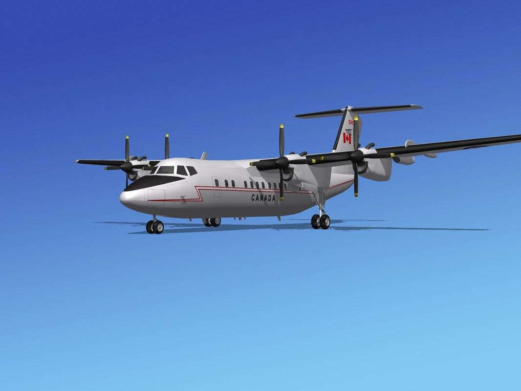 dhc-7-200 passenger freight 3d 3ds